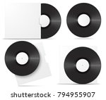 realistic vinyl record in...   Shutterstock .eps vector #794955907