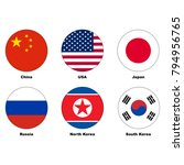 china  usa  japan  russia ... | Shutterstock .eps vector #794956765