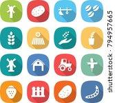 flat vector icon set   windmill ... | Shutterstock .eps vector #794957665