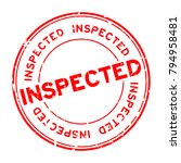 grunge red inspected word round ...   Shutterstock .eps vector #794958481