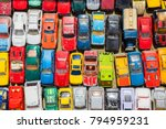 overhead photograph of old toy... | Shutterstock . vector #794959231