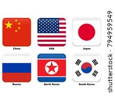 china  usa  japan  russia ... | Shutterstock .eps vector #794959549