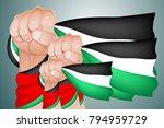 palestine fighter get freedom   Shutterstock .eps vector #794959729