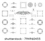 set vintage borders  frame and... | Shutterstock .eps vector #794960455