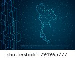 abstract mash line and point... | Shutterstock .eps vector #794965777
