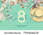 happy women's day spring vector ... | Shutterstock .eps vector #794966629