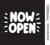 now open. vector hand drawn... | Shutterstock .eps vector #794968801