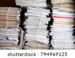 stacks of old folders with... | Shutterstock . vector #794969125