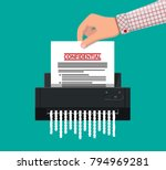 shredder machine. office device ... | Shutterstock .eps vector #794969281
