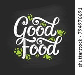 good food typography vector... | Shutterstock .eps vector #794976691