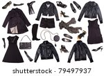 black clothes for women...   Shutterstock . vector #79497937