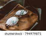 vintage eyeglasses with water... | Shutterstock . vector #794979871