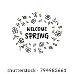 hello spring vector cartoon... | Shutterstock .eps vector #794982661
