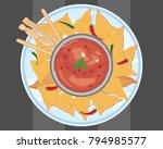 an illustration of a ceramic... | Shutterstock . vector #794985577