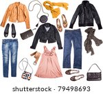 different clothes for females... | Shutterstock . vector #79498693