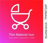 baby stroller outline of side... | Shutterstock .eps vector #794987269
