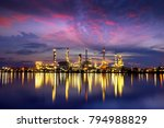oil refinery and oil industry | Shutterstock . vector #794988829