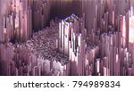 3d rendering abstract glitch... | Shutterstock . vector #794989834