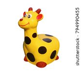giraffe molding doll painting... | Shutterstock . vector #794990455