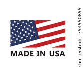 vector made in usa sign | Shutterstock .eps vector #794990899
