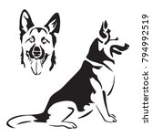 german shepherd. laser cutting... | Shutterstock .eps vector #794992519