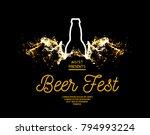 beer fest. splash of beer with...   Shutterstock .eps vector #794993224