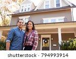 portrait of smiling couple...   Shutterstock . vector #794993914