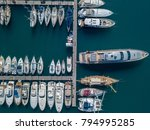 aerial view of sailboats and... | Shutterstock . vector #794995285
