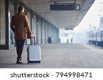 full length man keeping... | Shutterstock . vector #794998471