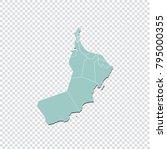 oman map   high detailed pastel ... | Shutterstock .eps vector #795000355