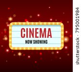 cinema banner. movie watching... | Shutterstock .eps vector #795001984