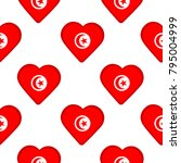 seamless pattern from hearts... | Shutterstock .eps vector #795004999