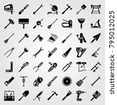 tools vector icons set. pipe... | Shutterstock .eps vector #795012025