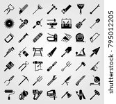 tools vector icons set. hand... | Shutterstock .eps vector #795012205