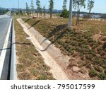 cast in situ road side drain... | Shutterstock . vector #795017599