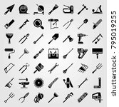 tools vector icons set. nail... | Shutterstock .eps vector #795019255