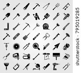 tools vector icons set. cutter  ... | Shutterstock .eps vector #795019285