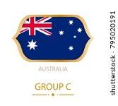 the flag of australia is made... | Shutterstock .eps vector #795020191