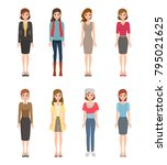 woman character in business... | Shutterstock .eps vector #795021625