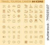 travel  tourism  summer... | Shutterstock .eps vector #795035107
