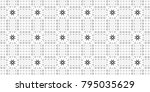 seamless black and white... | Shutterstock . vector #795035629