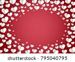 white heart shape vector red... | Shutterstock .eps vector #795040795