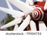 Power Generating Windmills - stock photo