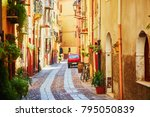 typical colorful italian houses ... | Shutterstock . vector #795050839