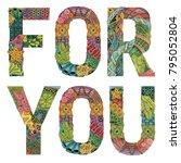 words for you. vector...   Shutterstock .eps vector #795052804