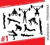 workout concept. vector... | Shutterstock .eps vector #795054565