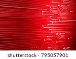 binary circuit board future... | Shutterstock .eps vector #795057901
