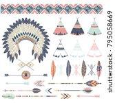 tribal elements set | Shutterstock .eps vector #795058669