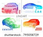 art image of a auto. vector car ...   Shutterstock .eps vector #795058729