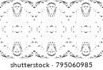 black and white mosaic pattern... | Shutterstock . vector #795060985